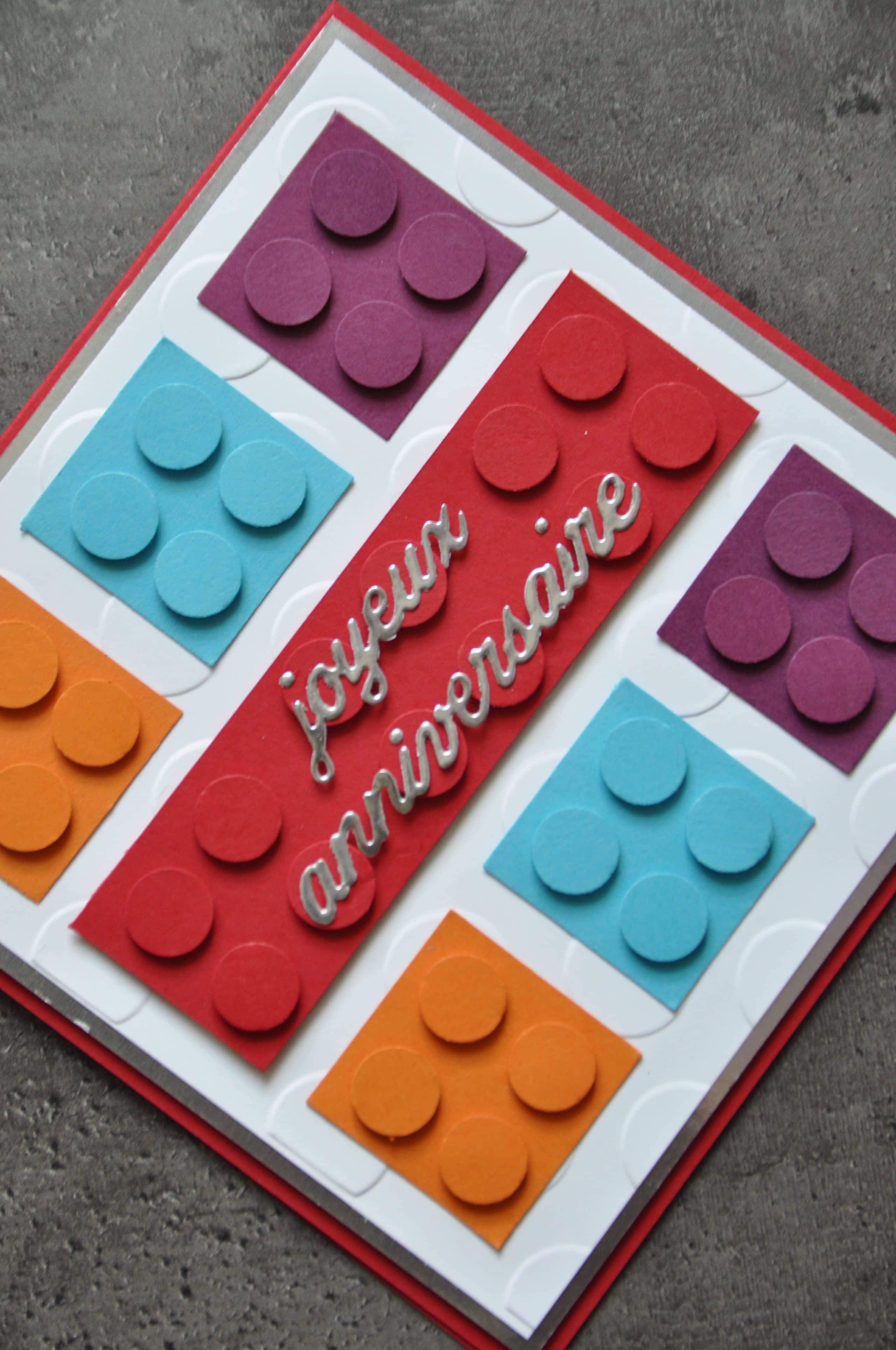 Carte Danniversaire Lego